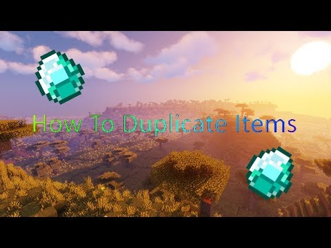 How To Duplicate items | Minecraft Tutorial