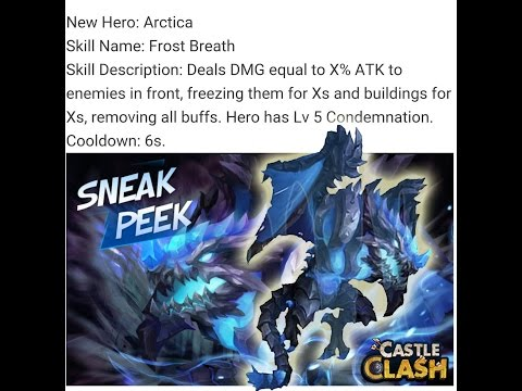 Castle Clash Sneak Peek 10/10 Skill Level Artica And Stats Must Watch