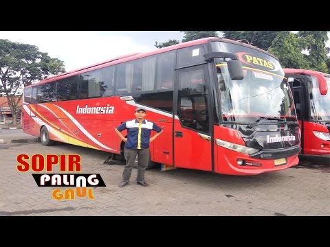 Sopir Bus Paling Gaul Po.Indonesia | Gagal Ngeblong Gara-gara Dua Motor Parkir Di Bahu Jalan