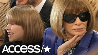 Victoria Beckham's Daughter Harper Totally Twins With Anna Wintour At London Fashion Week | Access