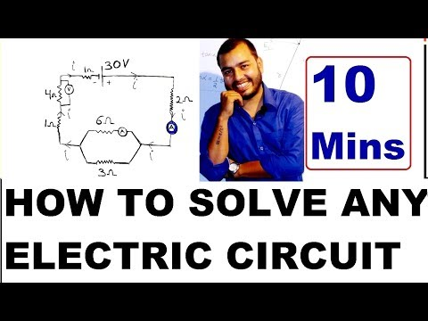 Class 10 : HOw To SoLVe AnY ELECTRIC CiRcUiT  ( In HINDI ); V = IR