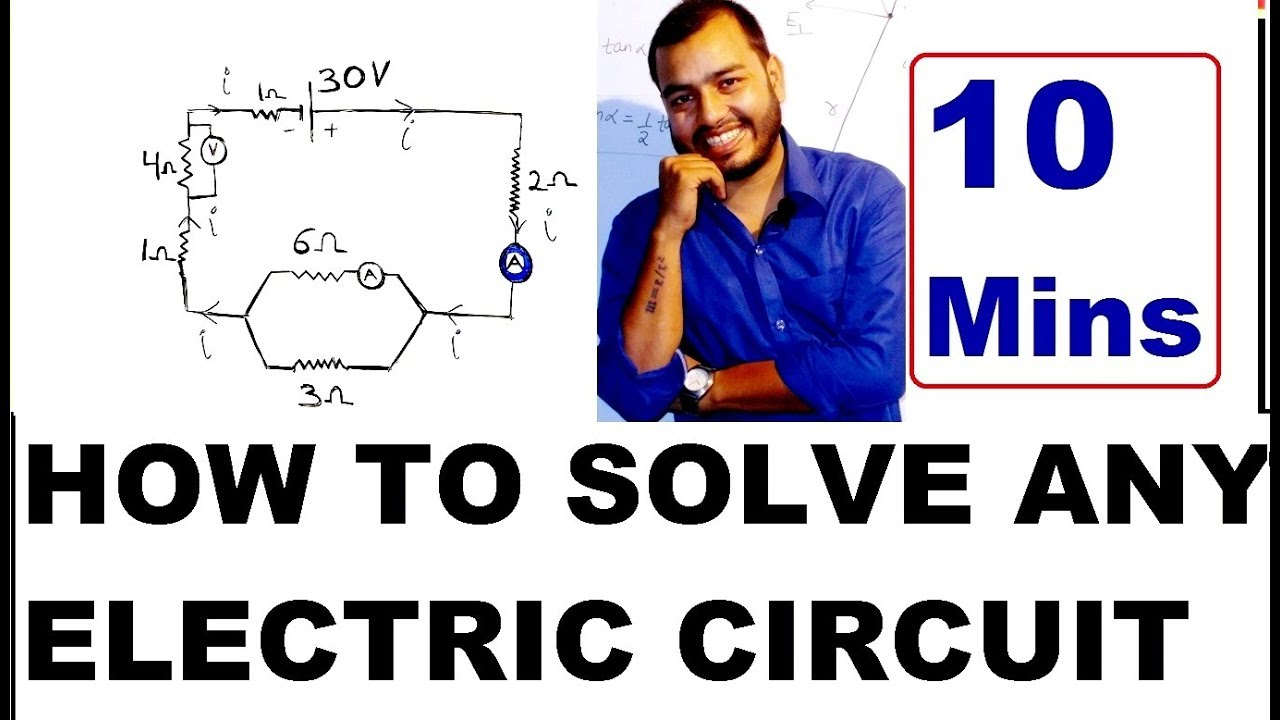 Icse Cbse Class 10th How To Solve Any Electric Circuit In Hindi Working With Elec Test Electrical Circuits V Ir