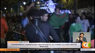 Jubilant Algerian fans clash with French police