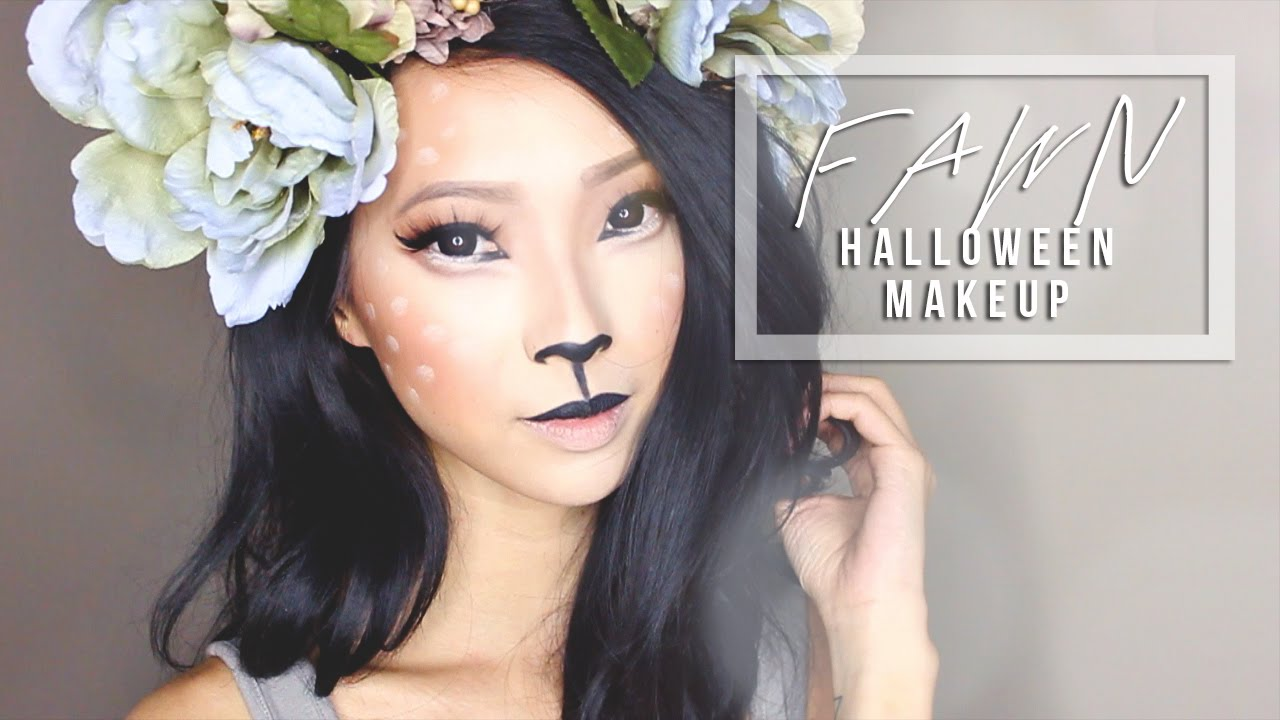 forest fawn costume makeup diy antlers youtube