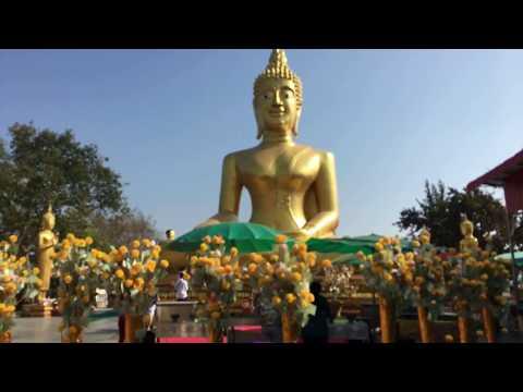 Big Buddha Statue in Pattaya - Wat Phra Yai temple 2018
