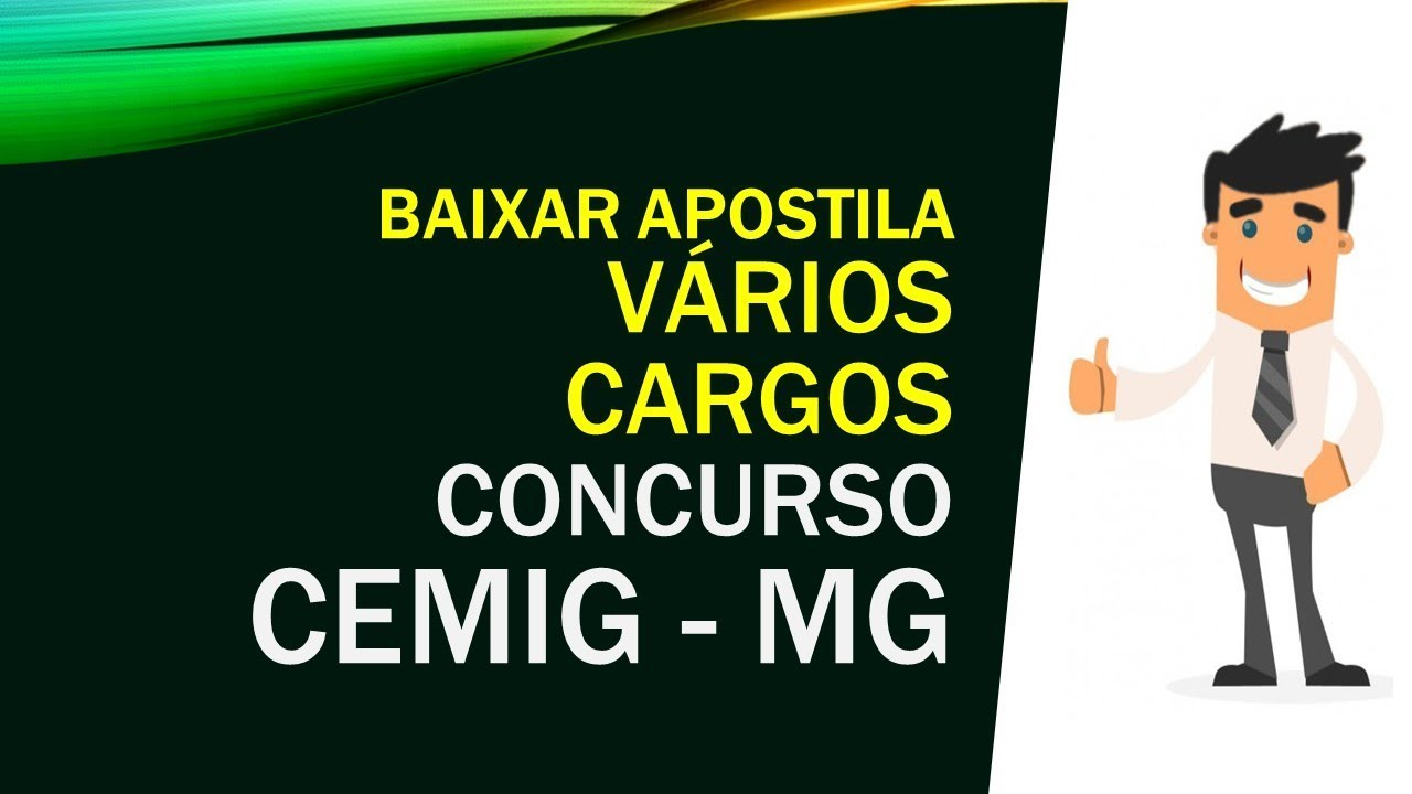f88dea1d2fda7 BAIXAR APOSTILA Concurso CEMIG - MG 2018 - 109 VAGAS - YouTube