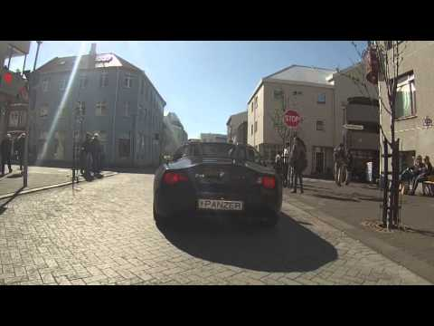 Driving in Reykjavik with Iclandic Radio with Starbucks Hoax (Scherzanruf)