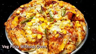 Pizza recipe without oven in TamilEasy preparation pizza in cooker