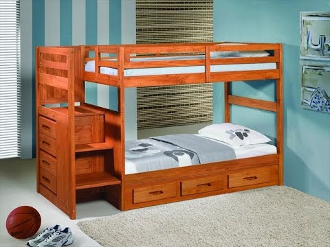 Kids Bunk Beds With Storage And Stairs Uk Youtube