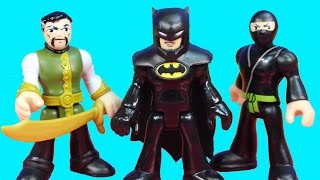 Imaginext Ra's Al Ghul And Shadow Ninjas Invade Wayne Manor Batman Bruce Wayne Alfred thumbnail