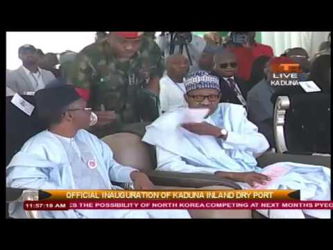 Buhari inaugurates Nigeria's first inland dry port 04/01/2017