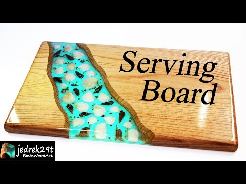 How to make SERVING BOARD with Shells and Epoxy Resin / ART RESIN
