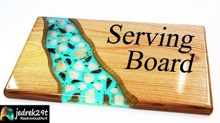 How to make Serving Board with Shells and Epoxy Resin / Resin Art