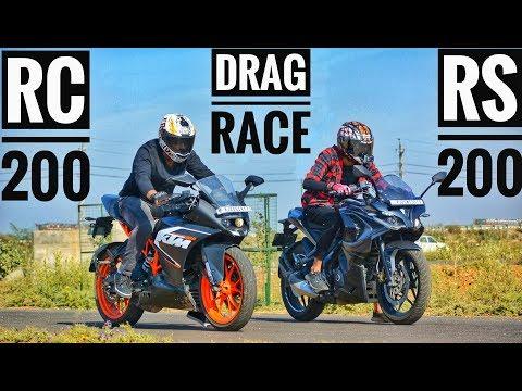 2018 DRAG RACE | KTM RC 200 VS BAJAJ PULSAR RS 200 | RACE | AYUSH VLOGS