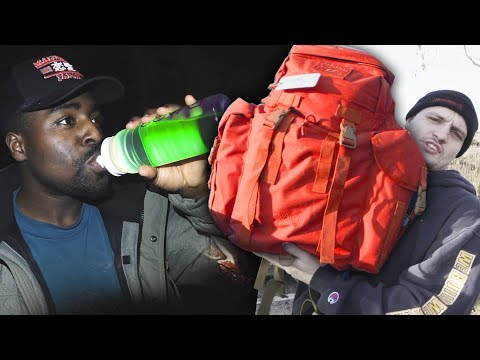 Surviving In The Wild With Emergency Survival Kit (goes very wrong)
