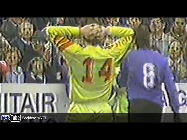 1991-1992 - Jupiler Pro League - 28. Germinal Ekeren - Club Brugge 0-1