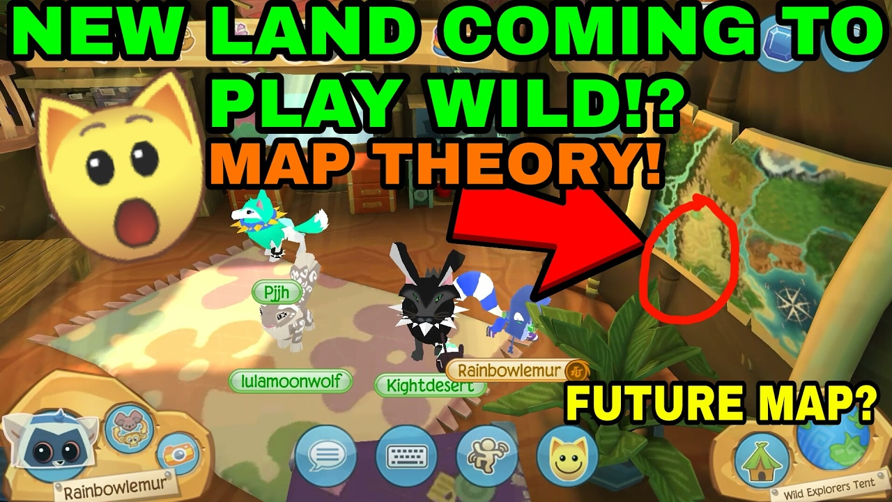 Animal Jam Map ANIMAL JAM PLAY WILD MAP THEORY NEW LAND!?   YouTube