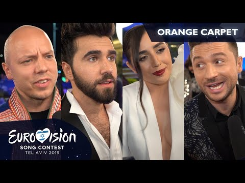 """I'd be a dog!"" If they weren't artists, who would they be? (Eurovision 2019, orange carpet)"