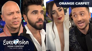 """""""I'd be a dog!"""" If they weren't artists, who would they be? (Eurovision 2019, orange carpet)"""