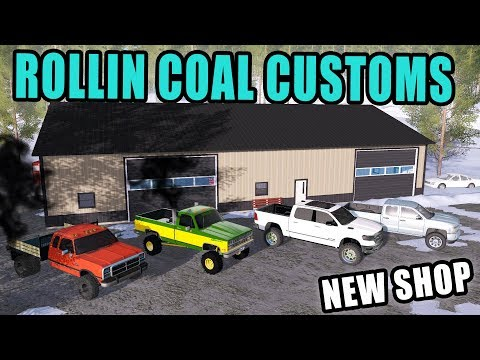 OPENING OF ROLLIN' COAL CUSTOMS! & ADDING LIFT KIT TO NEW CHEVY | FARMING SIMULATOR 2017 thumbnail