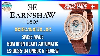 Too Much Thomas Earnshaw Beagle Swiss Made 50m Open Heart Automatic Es 0035 04 Unbox Review Youtube