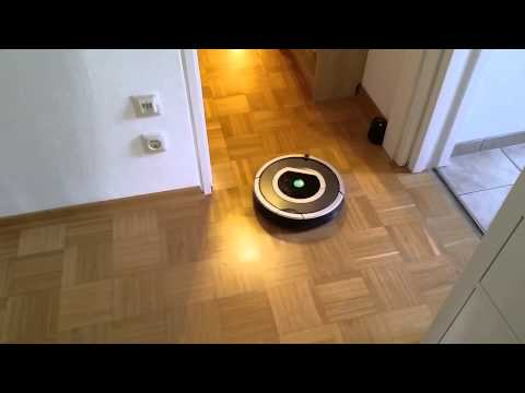 Roomba 780 + Lighthouse: Tractor beam guiding robot to next room