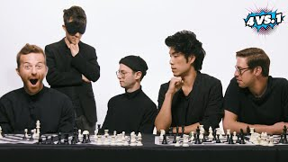 Download Can 4 Guys Beat A Blindfolded Chess Master? • The Try Guys: 4 Vs. 1 Mp3 and Videos
