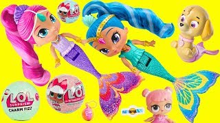 LOL Surprise Dolls Shimmer and Shine Mermaids Color Changing with Charm Fizz Fizzy Bomb Balls