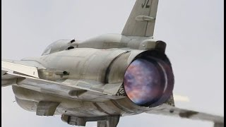 swafhf saab ajs 37 viggen full afterburner display with awesome sound