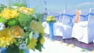 Бэкстэйдж с оформления свадьбы в ресторане Паруса