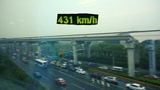 Shanghai Maglev 431km/h | Worlds fastest train!