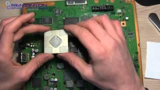 Ремонт Sony Playstation 3 як зняти кришку з чіпа RSX