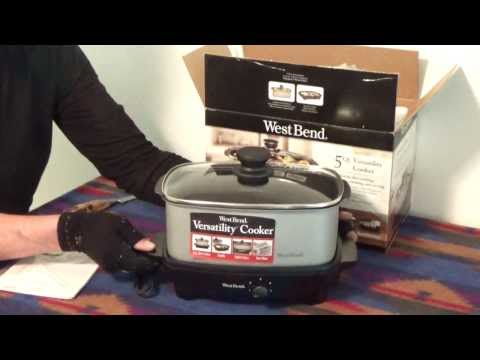 West Bend Versatility 5 Quart Oblong Slow Cooker