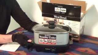 West Bend Versatility 5 Quart Oblong Slow Cooker