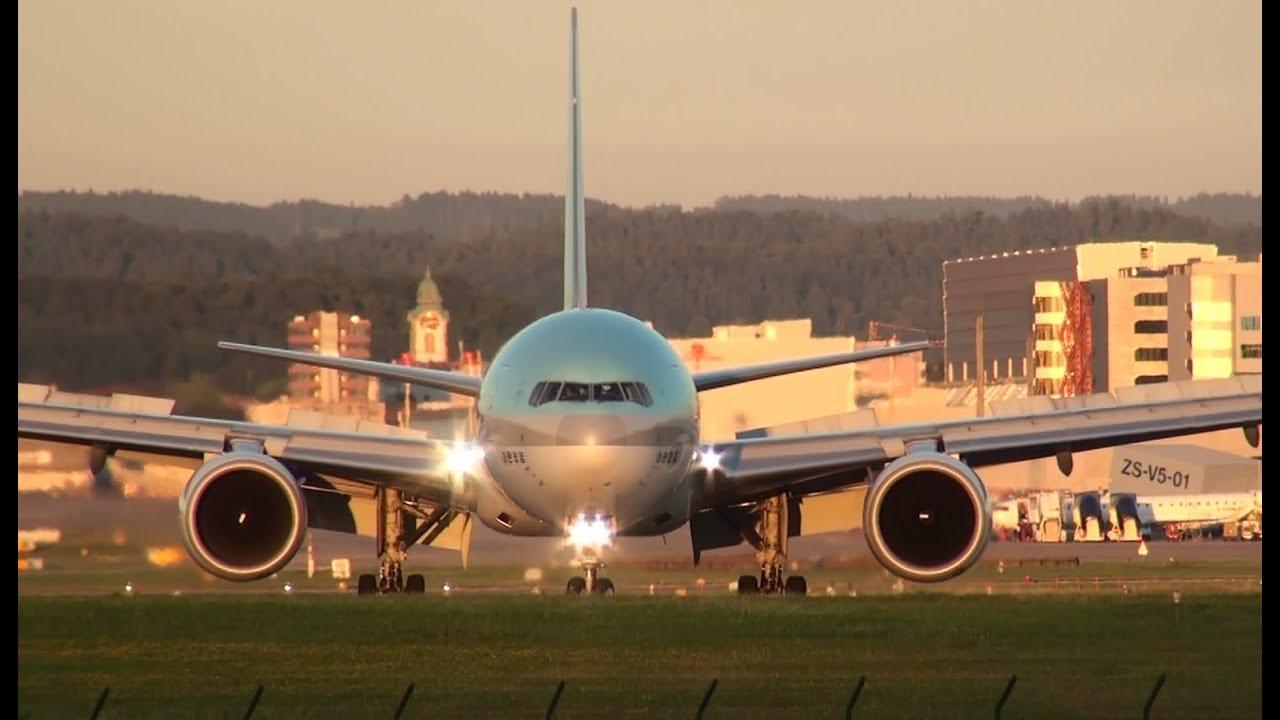 Flugzeuge am Flughafen Zürich ZRH Start und Landung