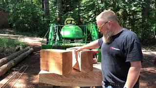 Testing my cedar shingle jig on my Wood-Mizer LT35 sawmill