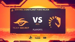 Team Secret vs Team Liquid, MDL Disneyland® Paris Major, bo5, game 3 [Smile & Adekvat]
