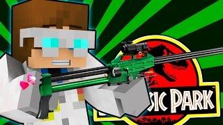 Minecraft | TRANQUILIZING TRICERATOPS! | Jurassic Map [2]