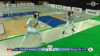 2019 118 T64 20 F F Individual Katowice POL WC GREEN CHAE KOR vs SAUER GER