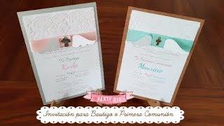 Invitaciones primera comunion niña