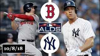 Boston Red Sox vs New York Yankees Highlights || ALDS Game 3 || October 8, 2018