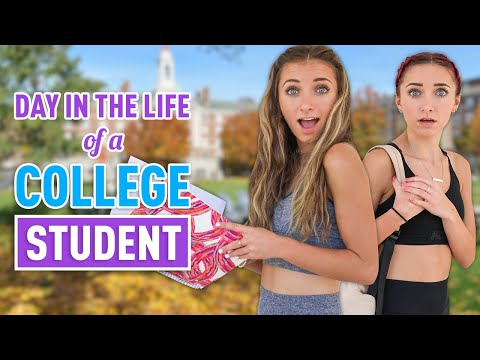 Day In The Life Of a COLLEGE STUDENT | Brooklyn & Bailey