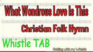 Baixar What Wondrous Love is This - Christian Folk Hymn - Tin Whistle - Play Along Tab Tutorial