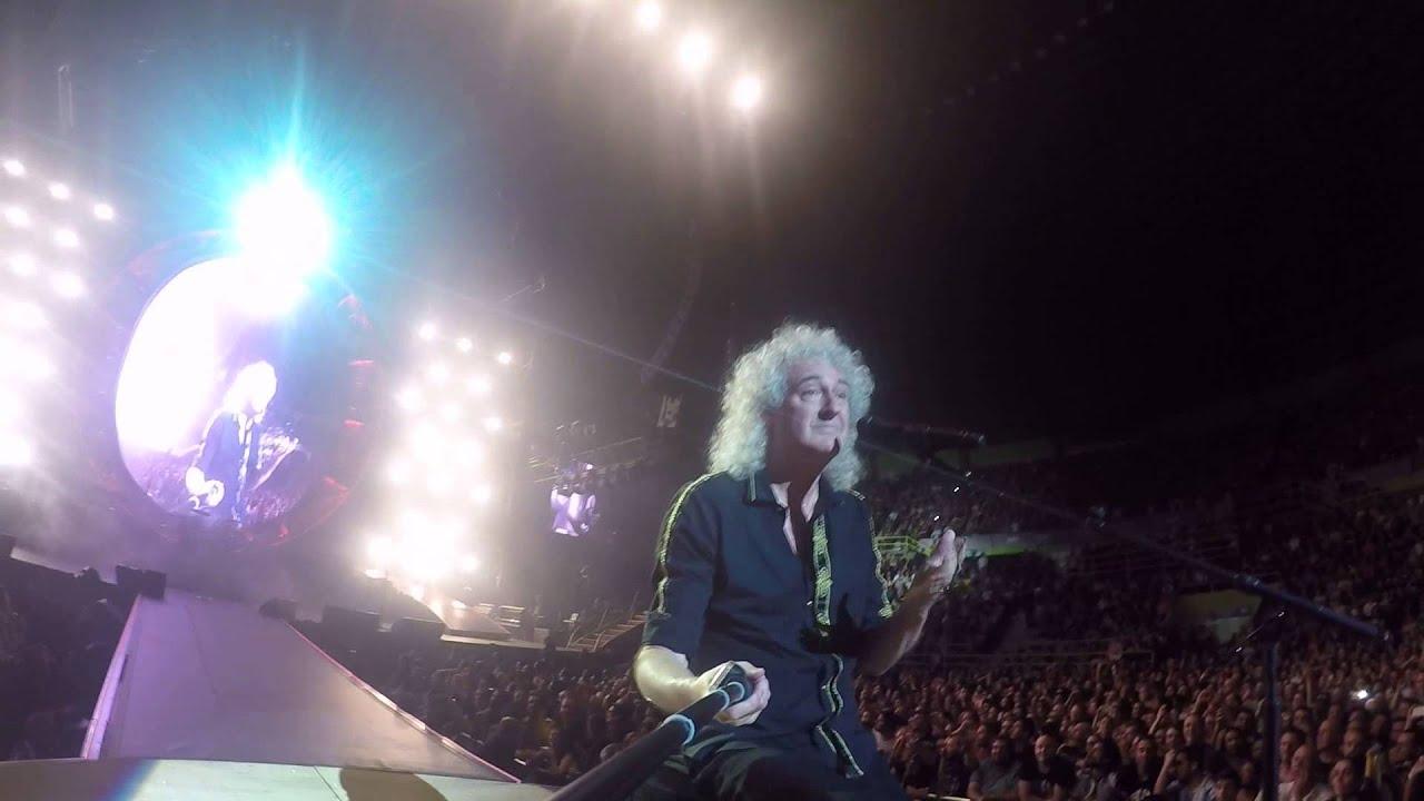 Selfie Stick Video — Sao Paulo GINÁSIO DO IBIRAPUERA [September 16, 2015] — Brian May