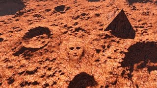 5 Mars Alien Mega Structures U Can Still See w NASA Mars Map Cause Google Just Blurred Them