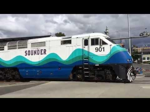 Sounder Train Edmonds Station Rail Crossing