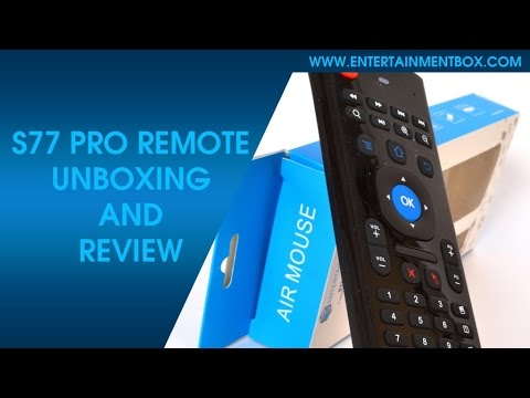 S77 Pro Remote For Android TV Boxes Review, Guide, Unboxing