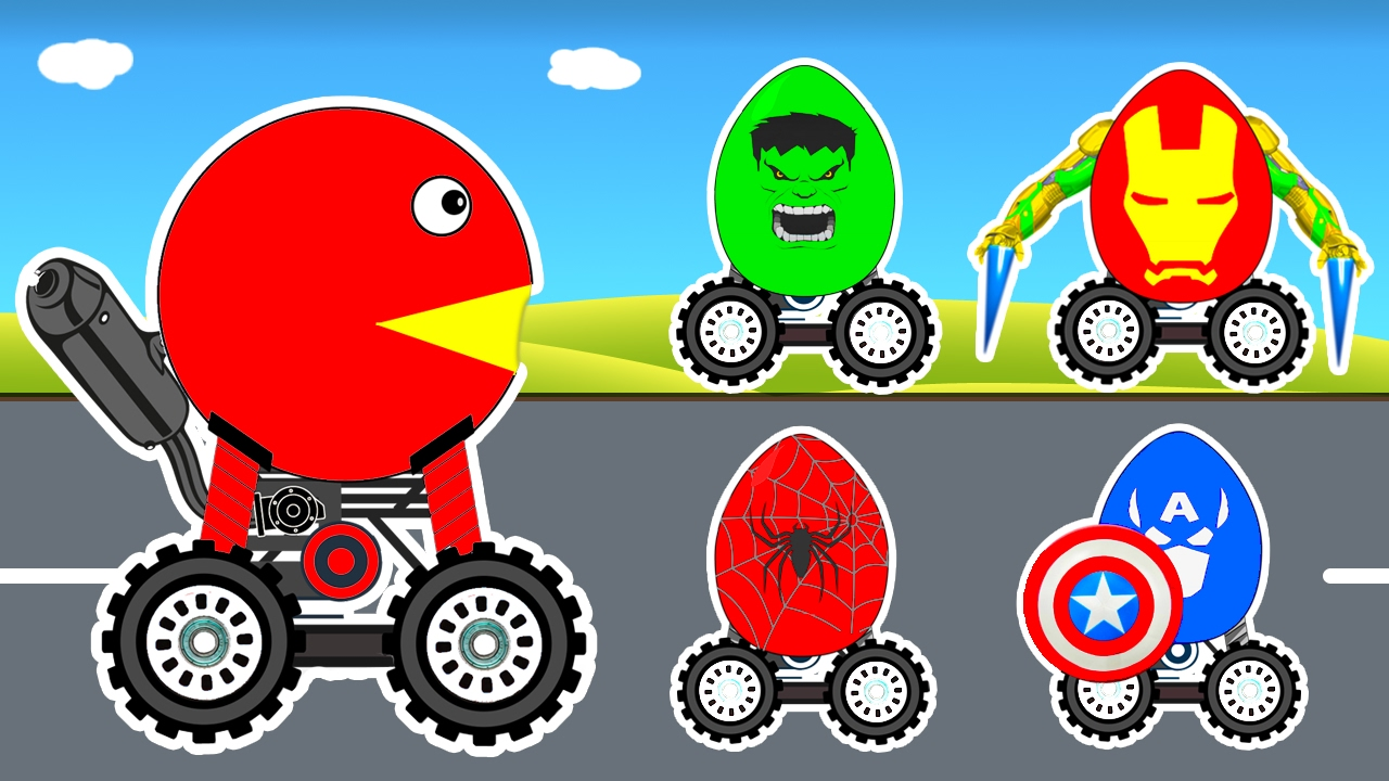 LEARN COLORS Surprise Eggs with Cars Cartoon for Children & Colours for Kids Learning Video