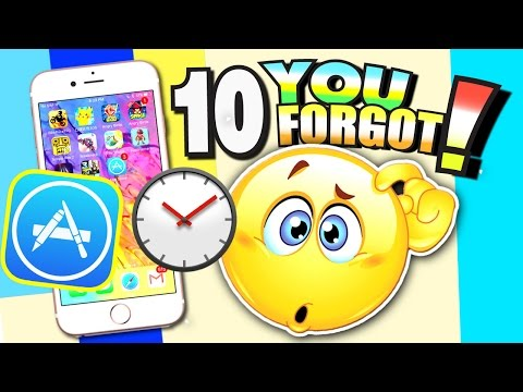 10 Apps/Games That YOU FORGOT EXISTED! (TOP 10 IOS Games From The PAST) OMG!