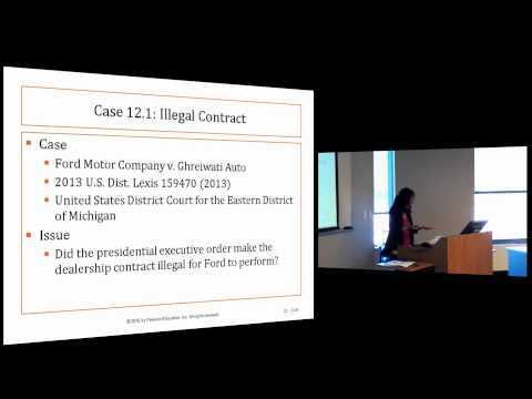 Business Law I: Lecture 5, Chapter 12